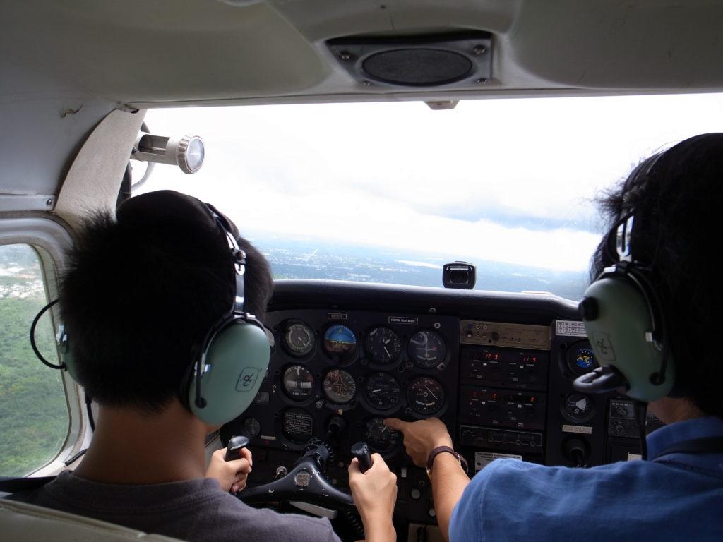 セスナ操縦体験